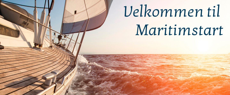 Velkommen til MaritimStart - Seilbåt i soldnedgang